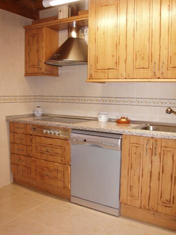 Cocina rústica en Soria